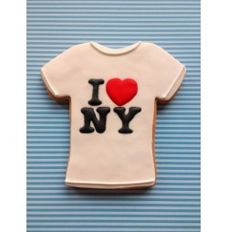 Galleta Camiseta I LOVE NY personalizable